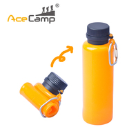 550ML Multipurpose Collapsible Squeezable Folding Silicone Water Bottle Water KettleWater Bottle Orange Black Free Shipping