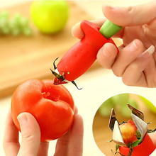 Strawberry Hullers Metal Plastic Fruit Leaf Remover Gadget Tomato Stalks Strawberry Knife Stem Remover Kitchen cooking Tool cheap Corers CW45208 Eco-Friendly Stainless steel + ABS 9*4 8*2 6cm