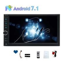 "7"" Octa Core Double din 2 Din Android 7.1 In Dash Car Stereo Radio GPS Navigation support WIFI Bluetooth Mirrorlink DVR Camera"