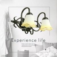 Новый современный минималистский прохода лампы творческий Стекло настенный светильник ночники настенные бра Лестницы прихожей Спальня св