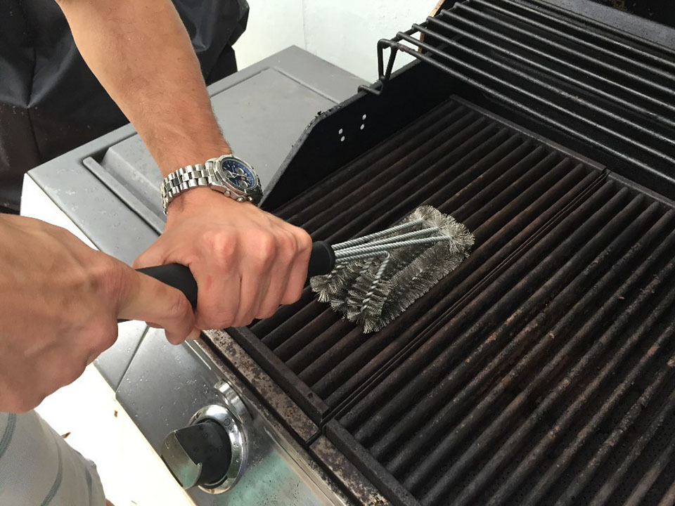 18 Rugged Grill Cleaning Brush BBQ tool Grill Brush 3 Stainless