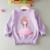 Nueva primavera otoño 2017 bebé chaqueta de punto suéteres suéter de las muchachas niños de la manera niños prendas de punto para niñas ropa