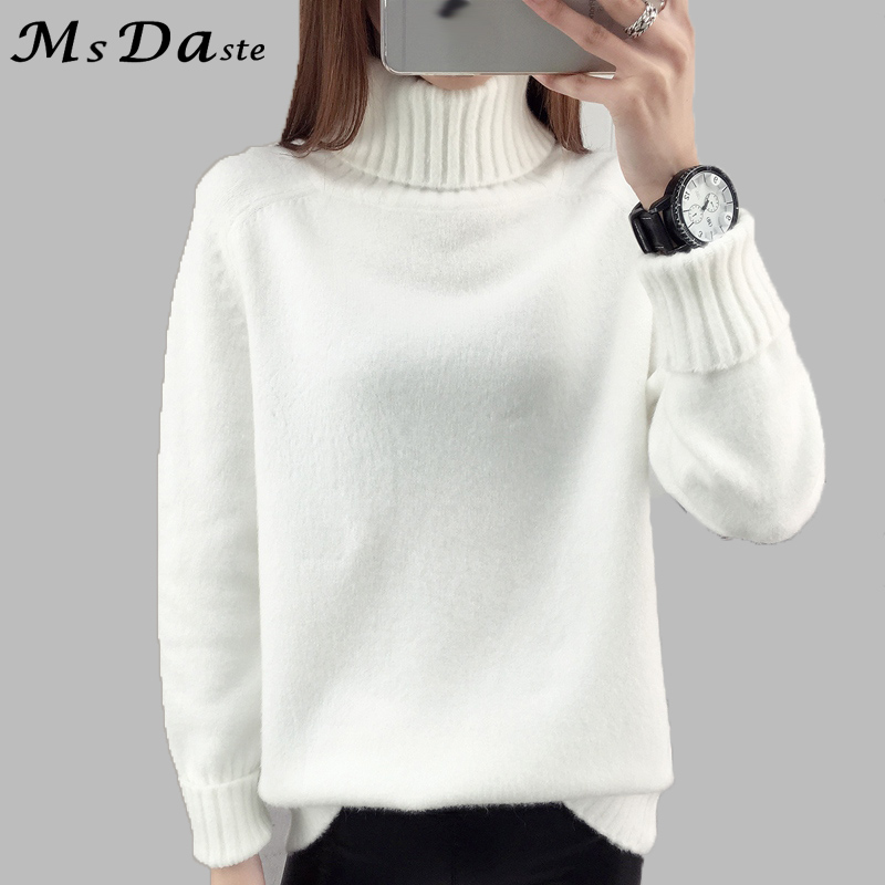 Autumn 2017 Women Sweaters Pullovers Knitted Turtleneck -1790