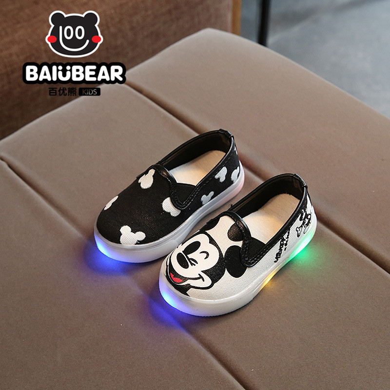 Children Shoes With Light 2017 New Brand Baby LED Light Up Kids Luminous Shoes Printed Glowing Sneakers Boys Girls Ligthed Shoe ...