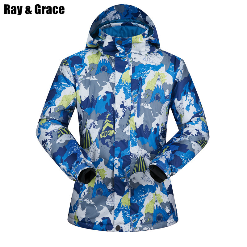 RAY GRACE Men's Ski Snow Jacket Outdoor Winter Super Warm Snowboarding Outerwear Thick Sports Coat Waterproof Parka Men Male hai yu cheng winter parka men puffer jacket coat male thick trench luxury brand men windbreaker snow wear parka jacket l 188 07
