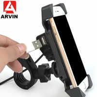 Una Chiave della serratura Auto Moto Caricabatterie Supporto Per Telefono Cellulare Per iPhone 6 7 8 X Samsung Huawei SmartPhone Mount Con caricatore USB Clip