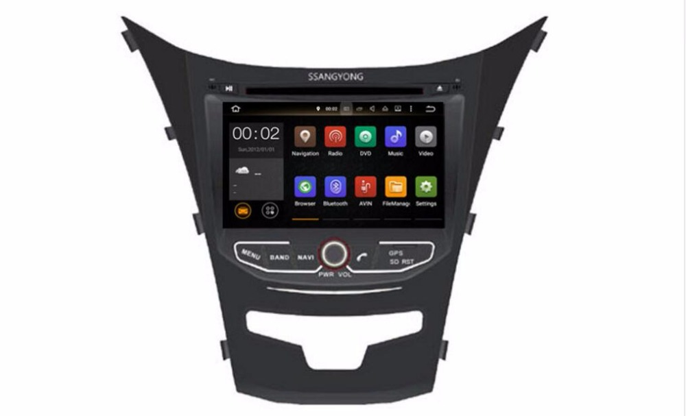 8-ядерный/4 ядра android 7.1/6.0 Fit Ssangyong New Actyon, korando 2010-2014 2015 dvd-плеер автомобиля Мультимедиа Навигация DVD GPS