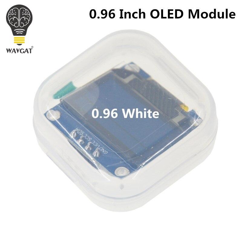 WAVGAT White color 128X64 OLED LCD LED Display Module For Arduino 0.96 I2C IIC Serial new original