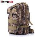 Homens mochila de camuflagem mochila no ombro saco 3 P mochila de lona