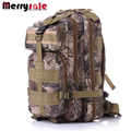 Men backpack camouflage backpack shoulder bag 3P canvas backpack