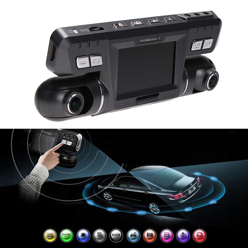 2.7 inch Car DVR HD1080P Dual Lens 170+120 Degree Wide Angle Car Camera Video Recorder Night Vision G-sensor Loop Recording New car dvr rear mirrordual camera anti dazzling gold multi language g sensor motion detection 170 wide angle hd 1080p