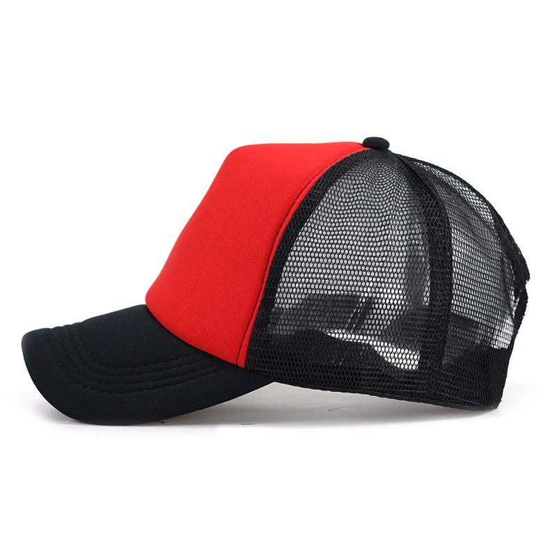 Carro Lot color gorra de béisbol en blanco nylon transpirable malla verano  mujeres sombreros del SnapBack ajustable al aire libre casquillo neto al  por ... ee6b903a8e1