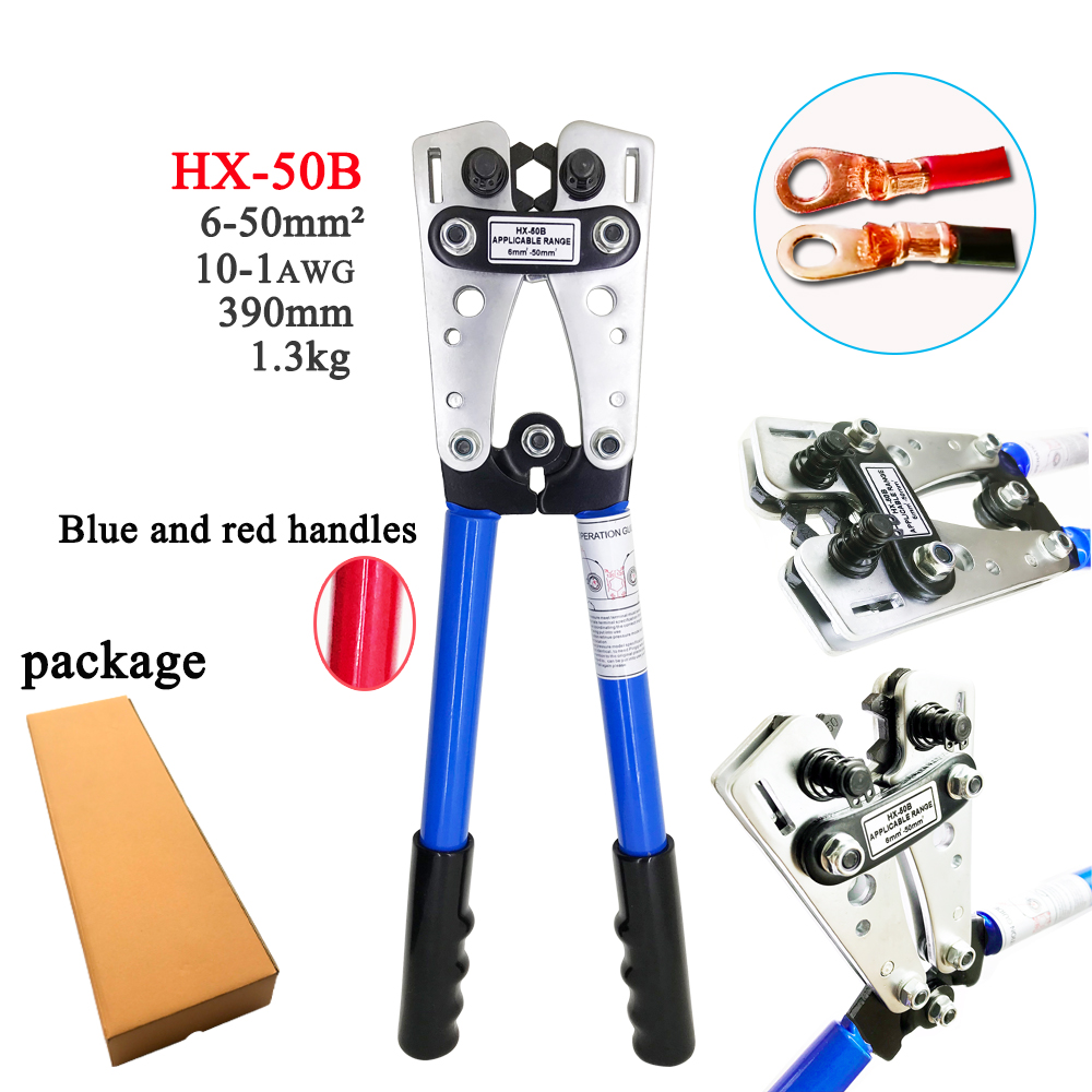 Crimping pliers HX 50B Crimping pliers Crimping pliers Manual crimping pliers for 6 50mm2 1 10AWG