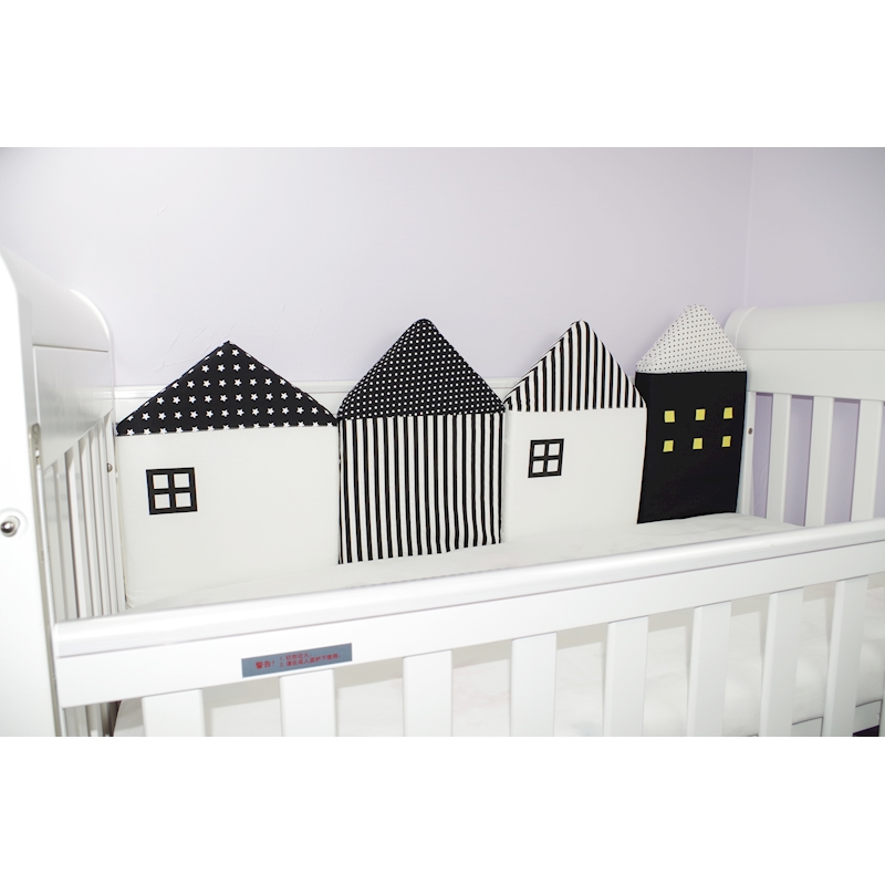 baby-4-pcs-set-Myudi-Baby-bed-bumper-little-house-pattern-crib-protection-infant-Cot-Nursery (4)