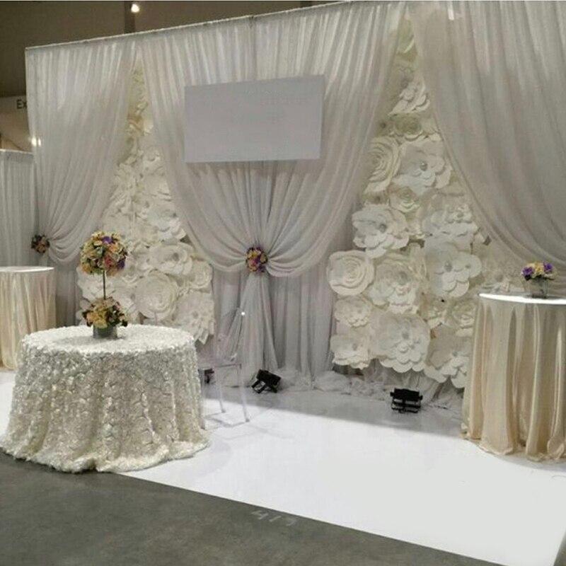 3*6 м три большие гирлянды для свадьбы фон шторы События Драпировка для вечеринок гирлянды только без задний план Индивидуальные цвет