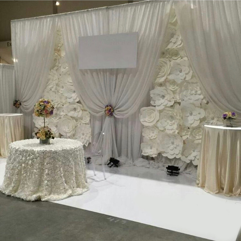 3*6m three big swags for wedding backdrop curtain event party drapery swags only no background customized color