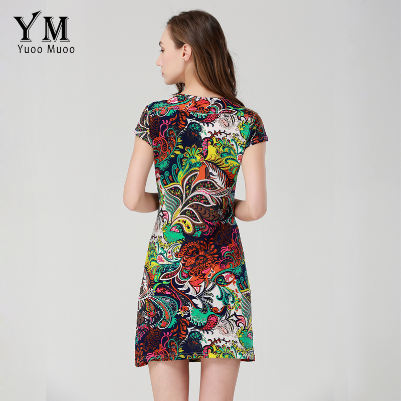 0d18a5c9970 YuooMuoo Plus Size 2017 New Style Summer Dress Women Fashion Printed Vintage  Dress Short Ladies Dresses vestidos Women Clothing-in Dresses from Women s  ...
