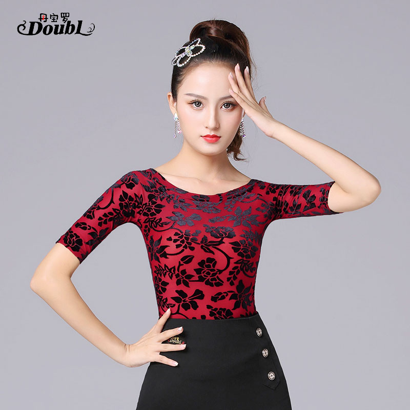 New Sexy Latin Top Dance Clothes Women Latin Salsa Rumba Chacha Dance Performance Practice Costume