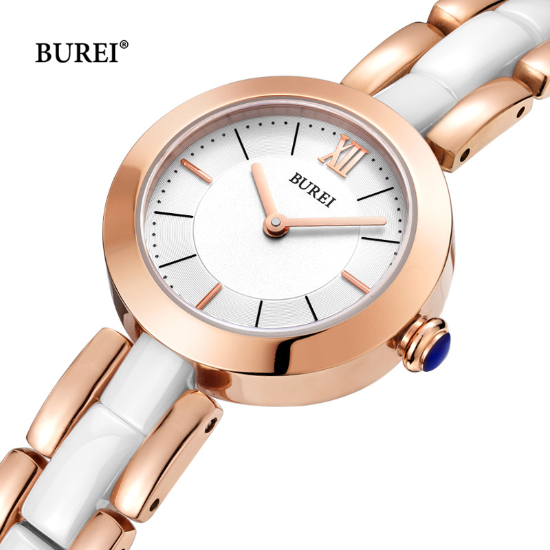 Reloj Mujer BUREI Luxury Brand Fashion Ladies Gold Quartz Wrist Watch Women Waterproof Ceramic Watches Clock Woman Montre Femme