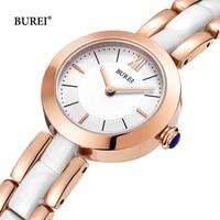 Reloj Mujer BUREI Luxury Brand Fashion Ladies Gold Quartz Wrist Watch Women Waterproof Ceramic Watches Clock Woman Montre Femme
