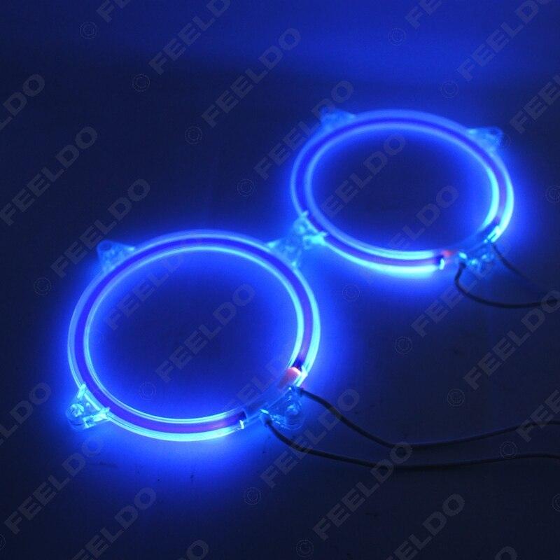 2шт/пара Автоматический автомобиль DRL 80мм CCFL в фары из светодиодов гало кольцо глаза Ангела сигнальные лампы синий#ФД-2716