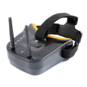 """Image 2 - 5.8G FPV LST 009 3 calowe dwuantenowe okulary wideo 3 """"40CH Mini gogle FPV dla RC Racing Drone Racers FPV skrzynia biegów akcesoria"""
