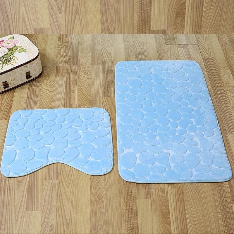 Tapis de bain salle de bain ensemble tapis de toilette flanelle anti-dérapant douche tapis créatif doux absorbant chambre tapis de pied salon porte tapis