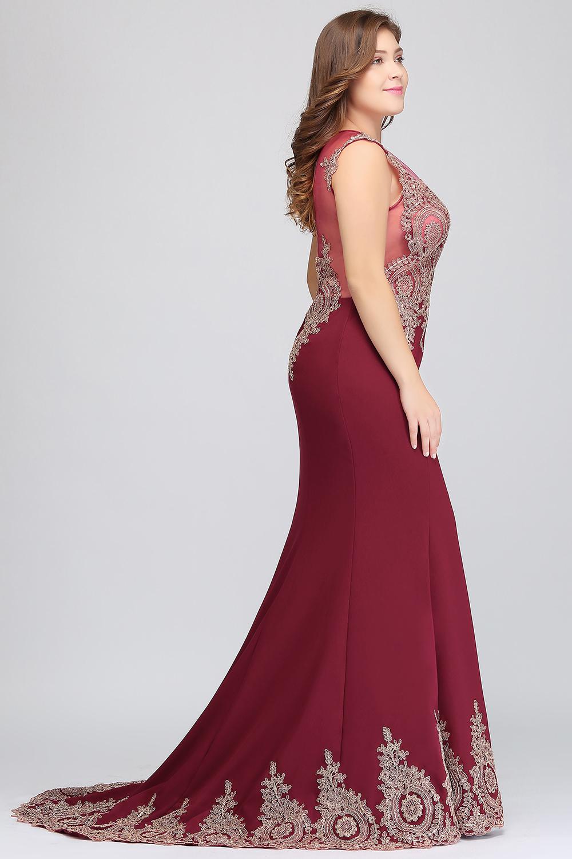 HTB1ha13eMLD8KJjSszeq6yGRpXaTPlus size Evening Dress Burgundy Formal Gown