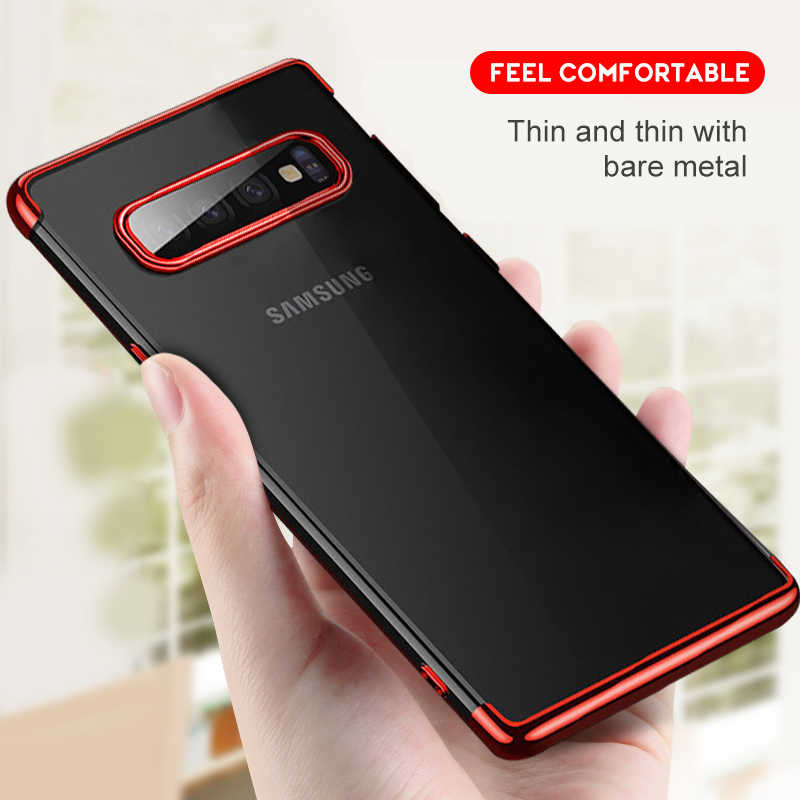 TPU Phone Case For Samsung Galaxy S8 S9 Plus S10E Soft Clear Cover for Samsung Galaxy S10 Note 9 8 Plating Silicone Armor Coque