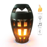 Aimitek Flame Atmosphere Lamp Light Bluetooth Speaker Portable Wireless Stereo Speaker with LED Flickers Outdoor Camping Woofer