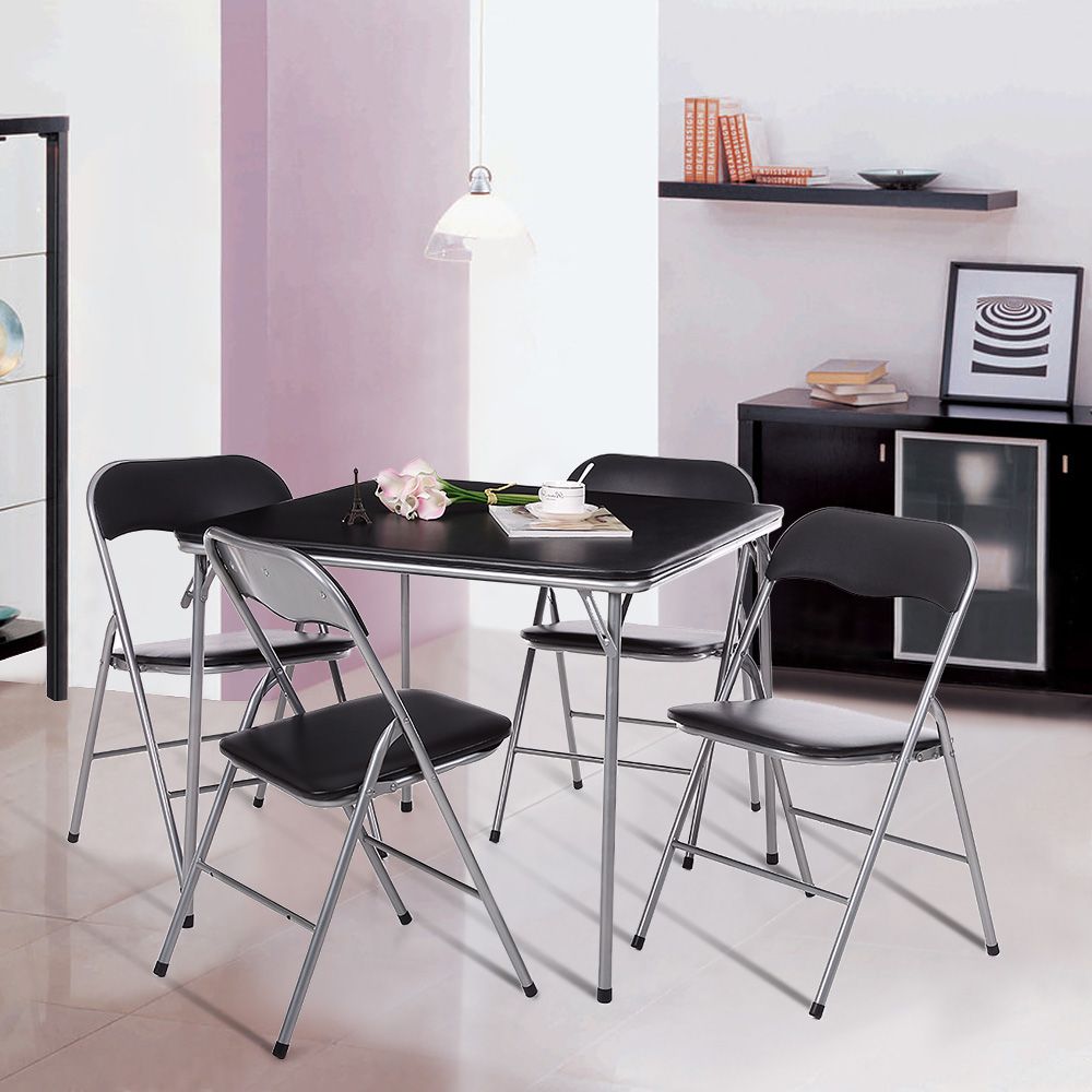 Ikayaa Dining Table And Chairs Set 4 Garden Furniture Kitchen Dining