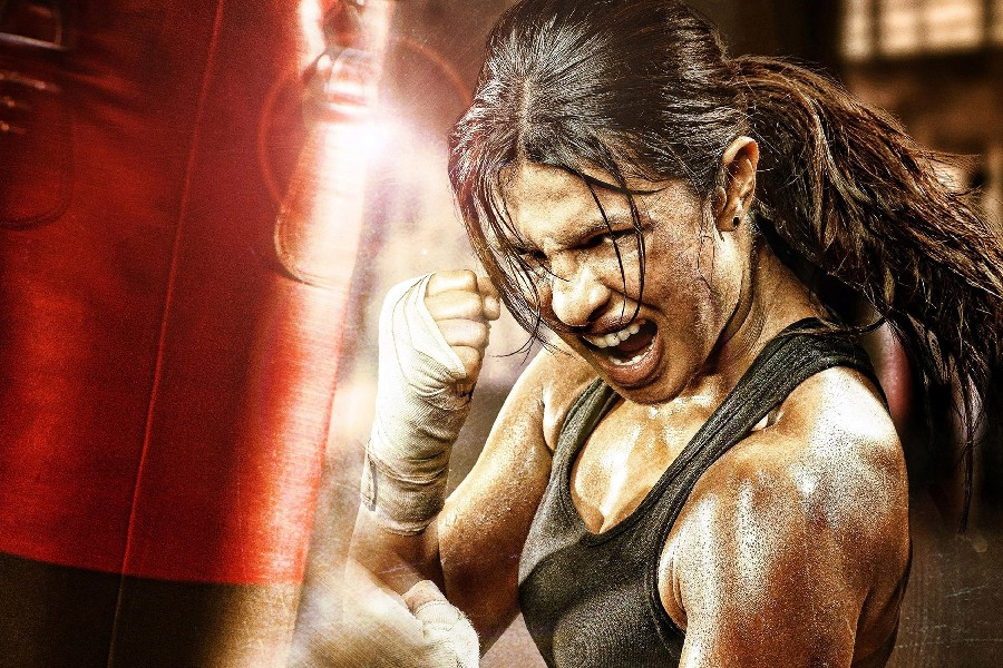 DIY frame Mary Kom Boxing Movie Film Poster Priyanka Chopra Fabric Silk Posters And Prints For Gift image