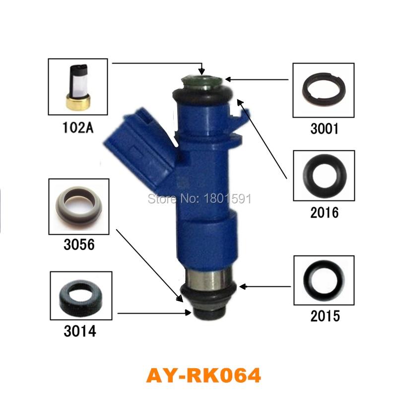 6  kits Fuel injector repair kits for Acura Honda Civic RDX Integra RSX K20 K24 B16 B18 16450RWCA01 OEM 16600-JA00A for AY-RK0646  kits Fuel injector repair kits for Acura Honda Civic RDX Integra RSX K20 K24 B16 B18 16450RWCA01 OEM 16600-JA00A for AY-RK064