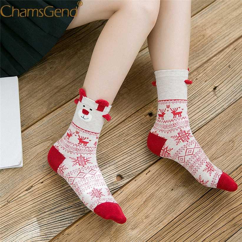 Yeni Tasarım Ren Geyiği Desen Noel Çorap Santa Sıcak Satış Aile Hediye Kadın Erkek Unisex pamuk çorap kış botu Çorap