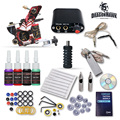 Complete Beginner Tattoo Kit 1 Machine Guns 4 Inks Needles Tattoo Power Supply D1025GD
