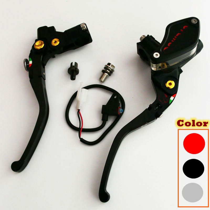 CNC 1 pair universal 22mm Multicolor motorcycle Cable Clutch Fold hydraulic brake pump master cylinder lever motorbike handle universal 14mm 16mm black 7 8 22mm motorcycle front brake clutch master cylinder motorbike hydraulic pump motorbike brake lever