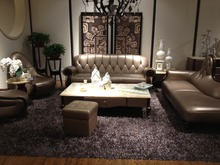 Cuero de vaca genuino juego de sala sofá seccional / esquina sofá muebles de sala sofá sofás de 1 + 1 + chaise 3 plazas
