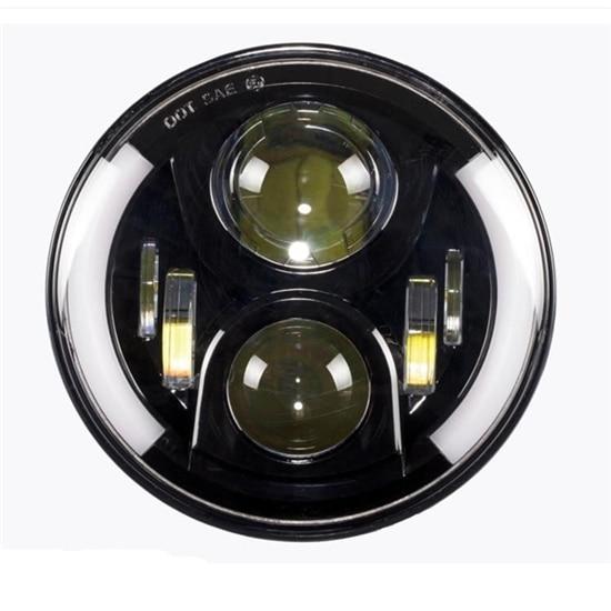 Super Bright Halo kulatý led světlomet, 40w led světlomet 7 palců Low + High Beam LED světlomet s DRL