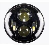 Super Bright Halo Round Led Headlight 45w Led Headlight 7inch Low High Beam LED Head Light