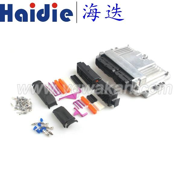 Бесплатная 1 компл.. 121 P ЭБУ алюминиевый корпус коробка с 121pin корпус двигателя автомобиля LPG CNG преобразования мужской женский авто разъем
