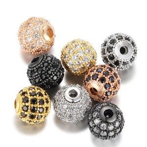 Для браслетов и ювелирных изделий доступны отдельно/8 мм/10 мм Роскошные Мини ПАВ AAA + циркониевые европейские прокладки бусины Круглые Подвески Бусины      АлиЭкспресс