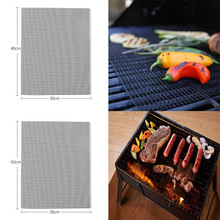 1 PC Square Non Stick Grilling Mats  Cooking Tools BBQ Mesh 30*40cm Churrasco Roaster Barbecue Grilling Mat Kitchen Gadgets