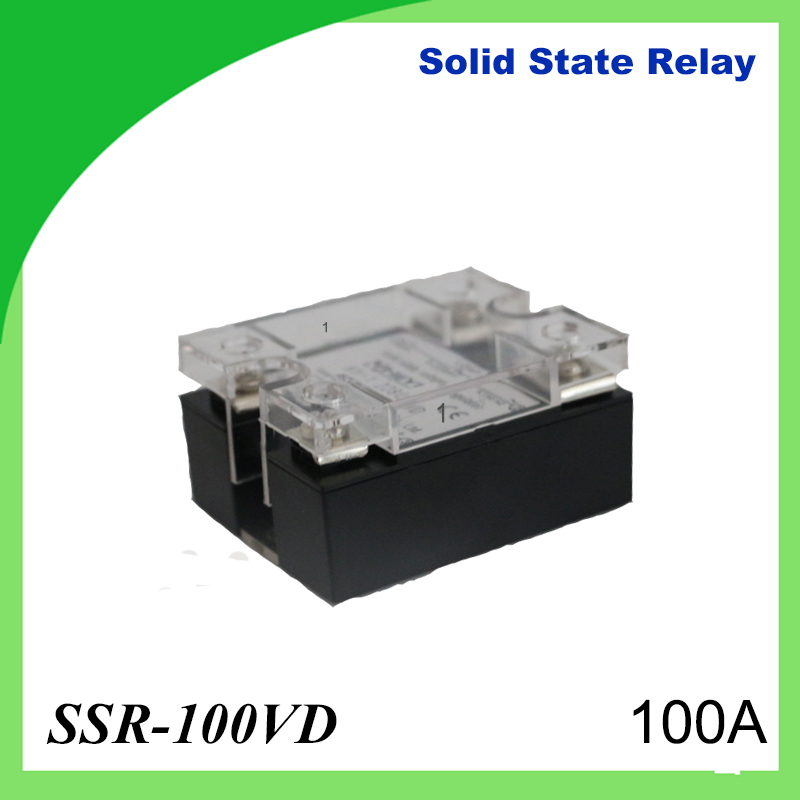 цена на 2pcs 100A SSR,input DC 0-10V single phase ssr solid state relay voltage regulator Voltage type built-in RC for heat sink