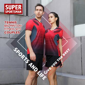 Mężczyźni Sport stroje piłkarskie stroje do biegania dla kobiet Fitness Badminton T-shirt tenis stołowy bieganie dres do trenowania koszykówki tanie i dobre opinie Poliester Krótki 20190705 Anty-pilling Przeciwzmarszczkowy Oddychające Szybkie suche Koszule Pasuje prawda na wymiar weź swój normalny rozmiar