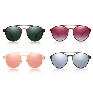 Image 5 - HU Ahşap Polarize Güneş Gözlüğü ahşap Bahar Menteşe Paslanmaz Çelik Çerçeve kadın güneş gözlüğü erkekler için Lens UV400 koruma GR8041