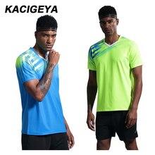 Футболка для бадминтона, новинка, мужские теннисные рубашки, для спорта на открытом воздухе, с круглым вырезом, рубашки для настольного тенниса, мужская тренировочная форма с коротким рукавом для бега, командная форма