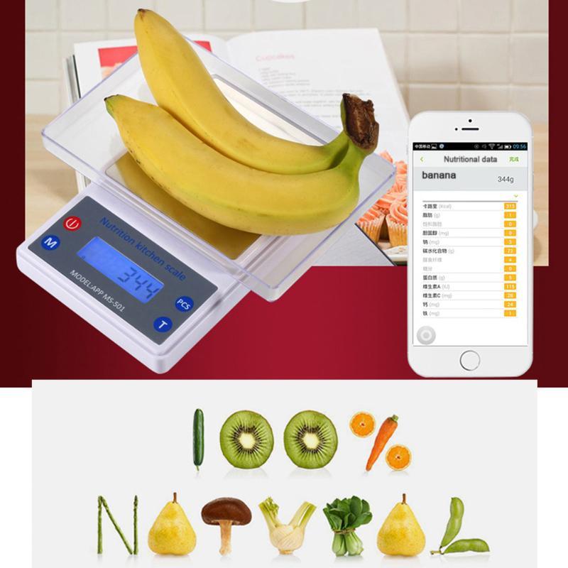 Edelstahl Smart home Waagen tragbare Digitale Elektronische Waagen Steelyard Post Lebensmittel Bluetooth Ernährung Gewicht Waage