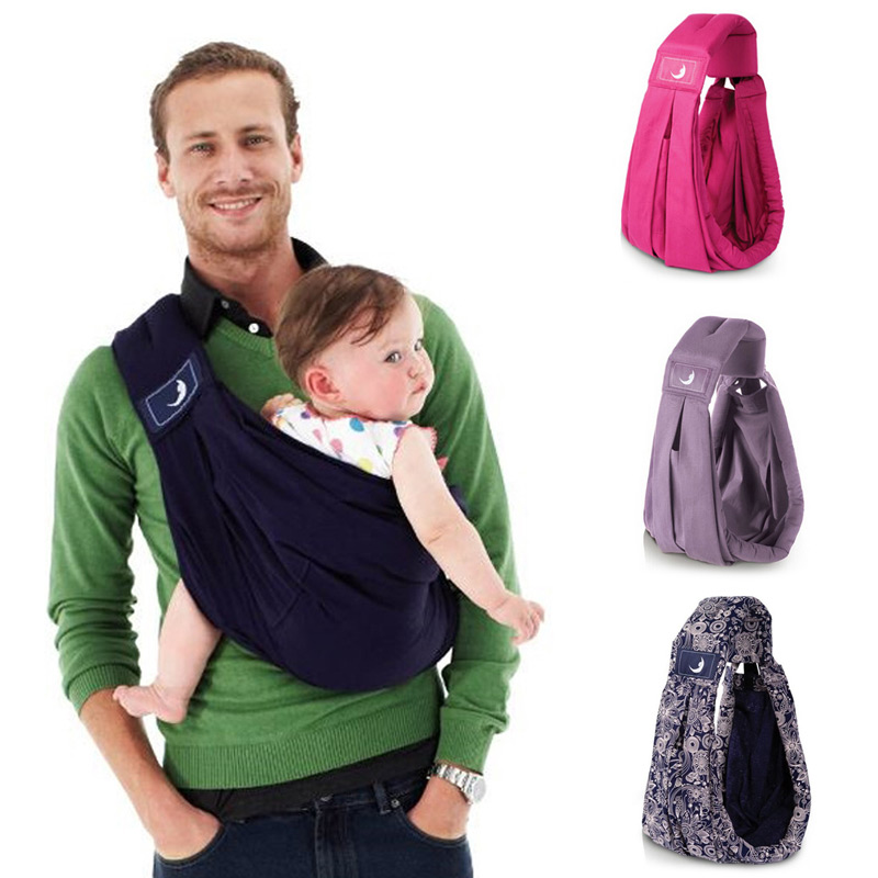 Baby Wrap Carrier Newborn Sling Dual Use Infant Nursing Cover Carrier Mesh Fabric Breastfeeding Carriers Up To 130 Lbs (0
