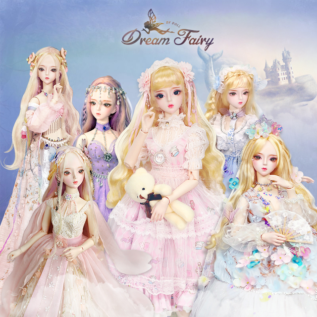 fortune days 1/3 bjd doll 62cm joint body white skin with clothes shoes, AI YoSD MSD SD Kit Toy Baby Gift DC Lati