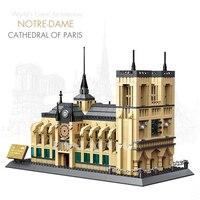 Pandadomik Notre Dame Cathedral Paris 1380pcs Building Toy Bricks Blocks Model legoinglys City House Constructor Toys Gift Decor
